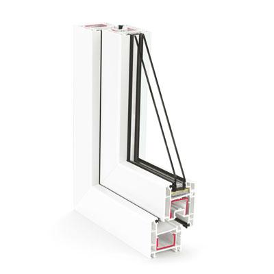 Купить металлопластиковые окна Rehau Ecosol Design 60