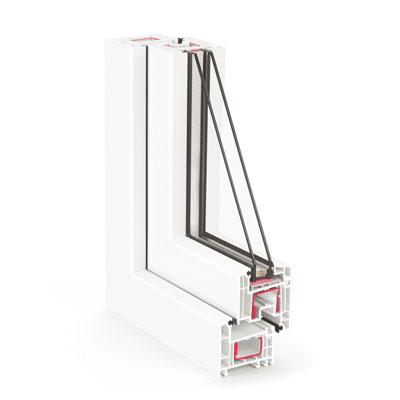 Купить металлопластиковые окна Rehau Ecosol Design 70